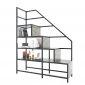 Giường tầng kết hợp kệ trang trí gỗ cao su khung sắt GT010