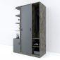 Module tủ quần áo cửa lùa kết hợp kệ trang trí TQA68038