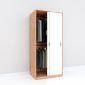 Tủ quần áo 2 cánh cửa lùa gỗ cao su TQA68035