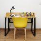 SHO68030 - Bộ bàn ghế ngồi học liền giá sách - 120x60x75 (cm)