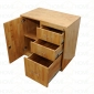 Tủ đựng hồ sơ văn phòng nhiều ngăn gỗ cao su 80x50x75(cm) THS68001