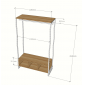 TQA68004 - Kệ quần áo đa năng khung sắt có ngăn hộc gỗ - 120x50x200 (cm)