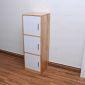 TCN68009 - Tủ hồ sơ cá nhân đứng 3 ngăn gỗ cao su - 40x120x40 (cm)