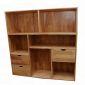 THS68007 - Kệ tủ hồ sơ văn phòng có ngăn kéo gỗ cao su - 120x30x120 (cm)
