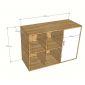 Tủ hồ sơ văn phòng đơn giản gỗ cao su 100x40x70(cm) THS68003