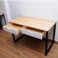 BD68030 - Bàn học 2 ngăn kéo chân sắt vuông - 120x60x75 (cm)