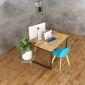 BNV68044 - Modul bàn nhân viên hình vuông chân 25x50 - 120x120 (cm)