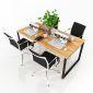 CVPN008 - Chân bàn họp 180x90 sắt chữ nhật 25x50 lắp ráp