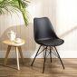 GBC68007 - Ghế bàn cao Eame lưng nhựa ABS chân sắt màu đen