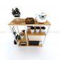 KB68002 - Kệ nhà bếp gỗ nhiều tầng khung sắt gỗ ( 40cmx1mx1m)