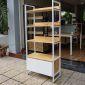 KS68024 - Kệ tủ gỗ 4 tầng trang trí phòng khách hiện đại - 40x80x180 (cm)