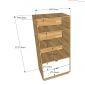 KS68027 - Giá sách có 2 hộc tủ nhỏ gọn ( 600x1200x400mm)