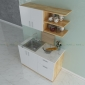 TBT68002 - Tủ bếp treo tường nhỏ gọn 2 cánh bằng gỗ  - 120x35x50 (cm)