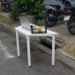 Bàn làm việc SimpleDesk hình thang màu trắng 120x52x75 cm HBLG019