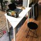 SPD68077- Bàn làm việc SimpleDesk hình thang màu trắng - 120x60x75 cm