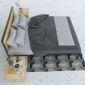 GN68007 - Giường ngủ đôi lớn khung sắt lắp ráp - 160x200x30 (cm)