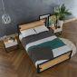 GN68004 - Giường ngủ khung sắt Ferrro - 206x160x35 (cm) *không bao gồm nệm*