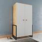TQA68008 - Tủ quần áo Ferro nhỏ gọn 2 cánh bằng gỗ - 106x55x190 cm