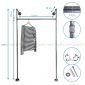 GQA68022 - Giá treo đồ ống nước 007 - 120x30x160 (cm)