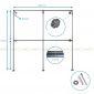GQA68024 - Giá treo đồ ống nước 009 - 240x30x240 (cm)