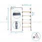 GQA68025 - Giá treo đồ ống nước 010 - 180x35x190 (cm)