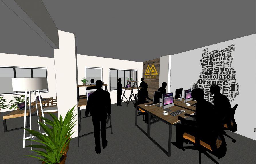 Thiết kế thi công nội thất văn phòng công ty Big Cat Entertainment