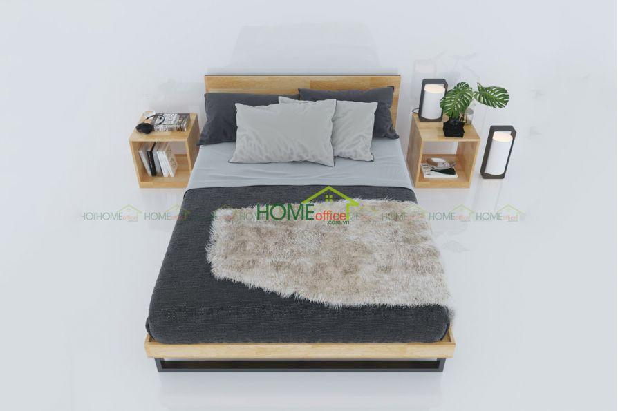 Mẫu giường ngủ gỗ cao su tự nhiên giá Tốt Nhất thị trường hiện nay