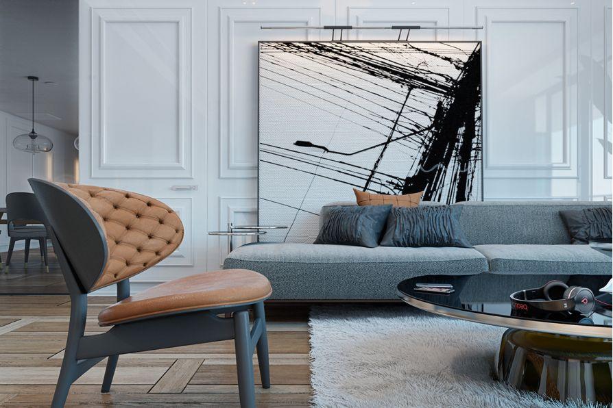 10 mẫu trang trí không gian nội thất nhà ở bằng tranh nghệ thuật khổ lớn