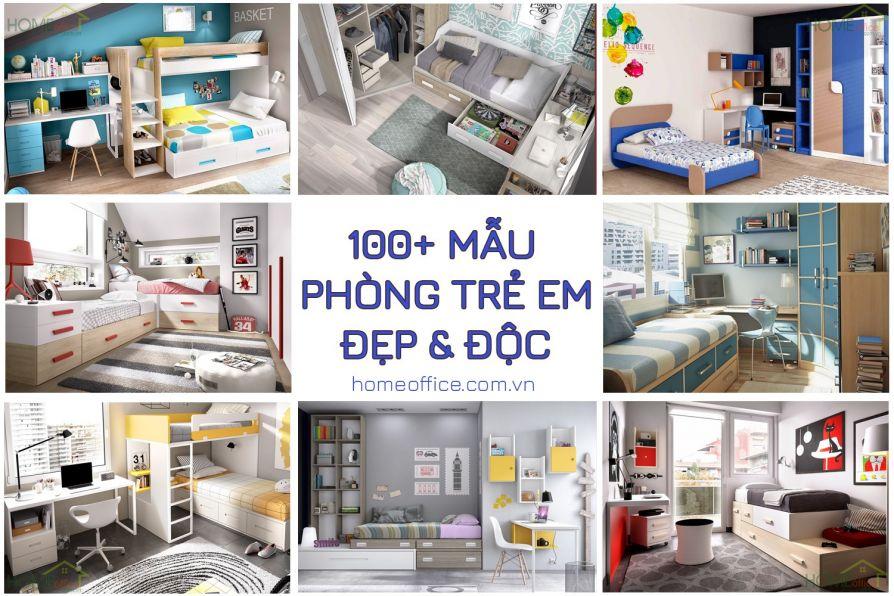 100+ mẫu thiết kế phòng ngủ trẻ em đẹp và hiện đại theo xu hướng 2019