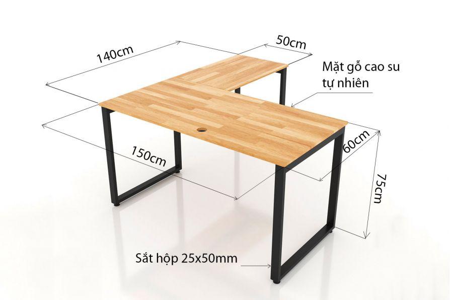 Kích thước bàn làm việc tiêu chuẩn cho người Việt