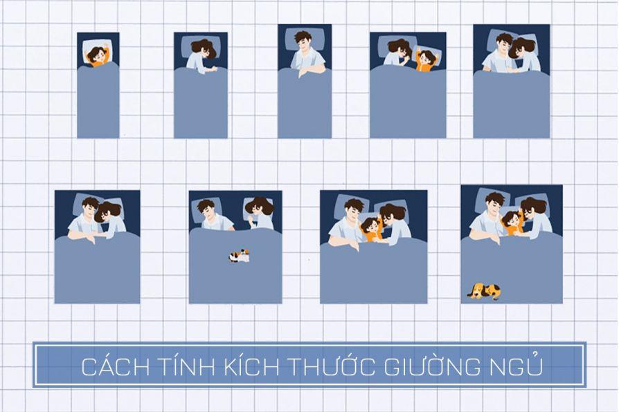 Hướng dẫn cách chọn kích thước giường ngủ theo đúng tiêu chuẩn và hợp phong thủy