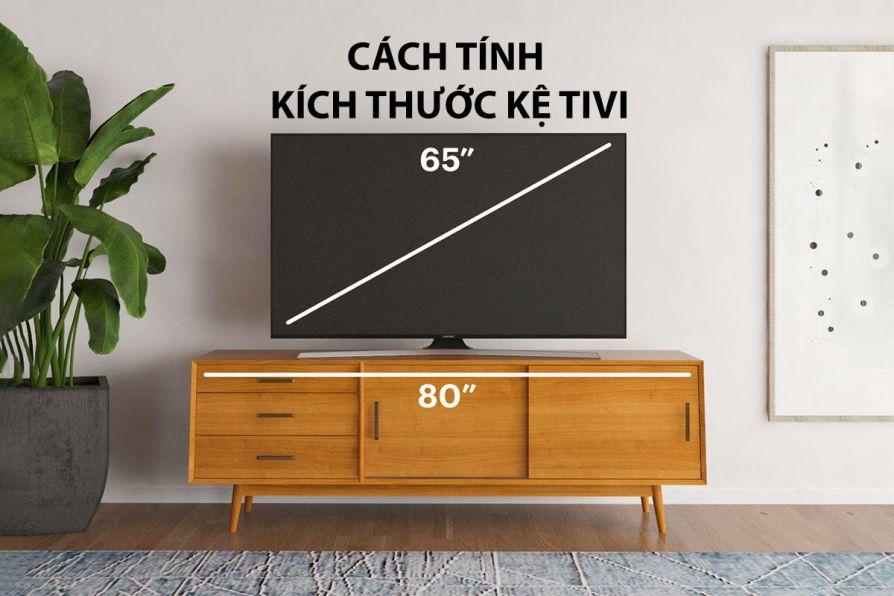 Hướng dẫn cách tính kích thước kệ tivi phù hợp với phòng khách/phòng ngủ