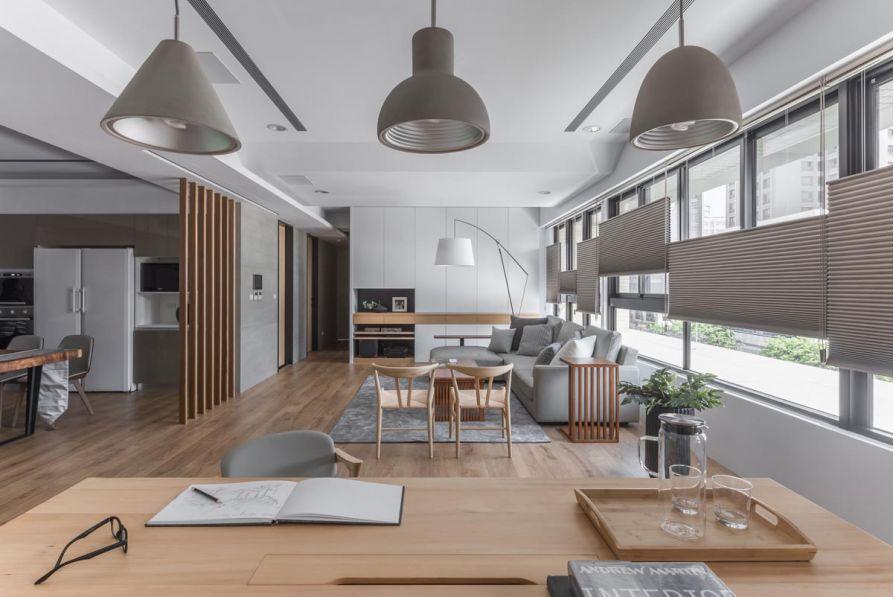 Mẫu thiết kế phòng khách liền bếp tuyệt đẹp!