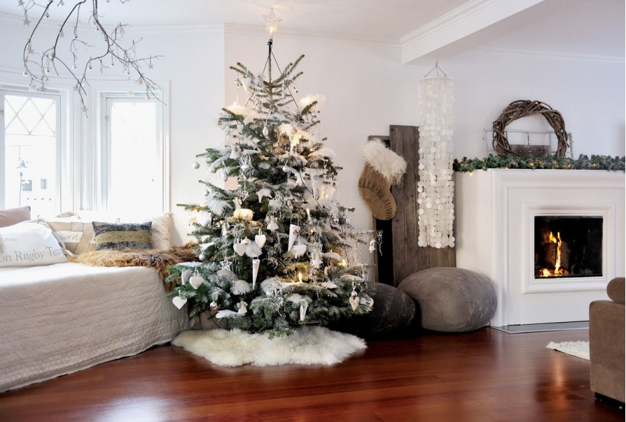 Những mẫu thiết kế phòng khách đẹp cho ngày giáng sinh
