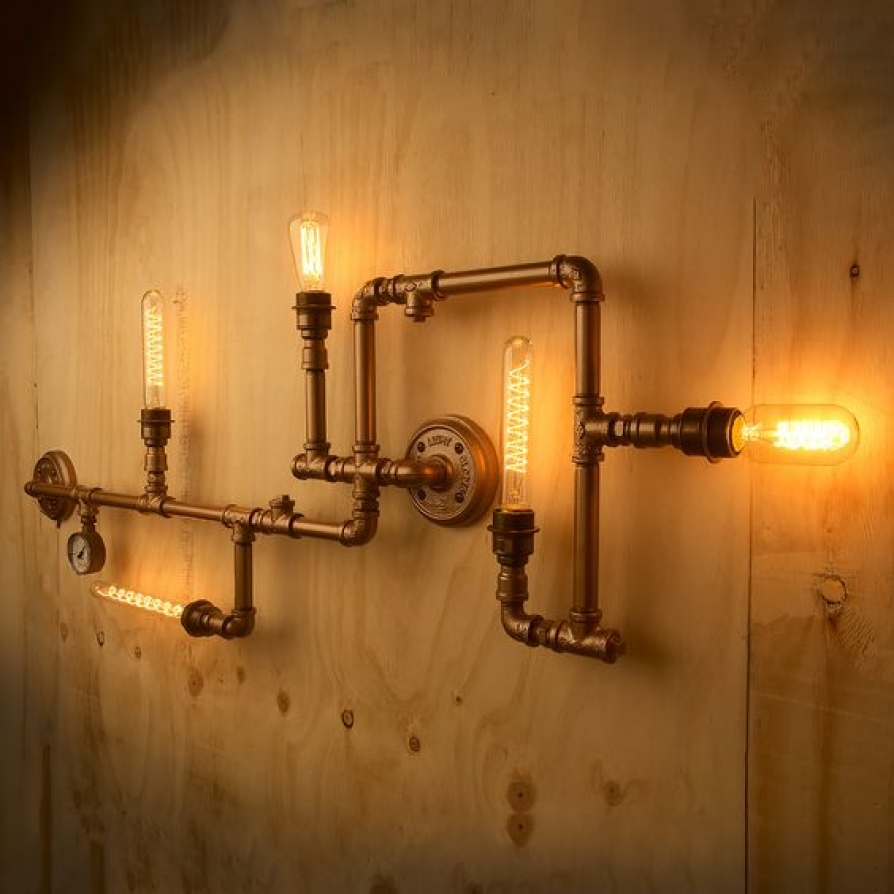 Những kiểu đèn lạ mặt trong nội thất ống nước