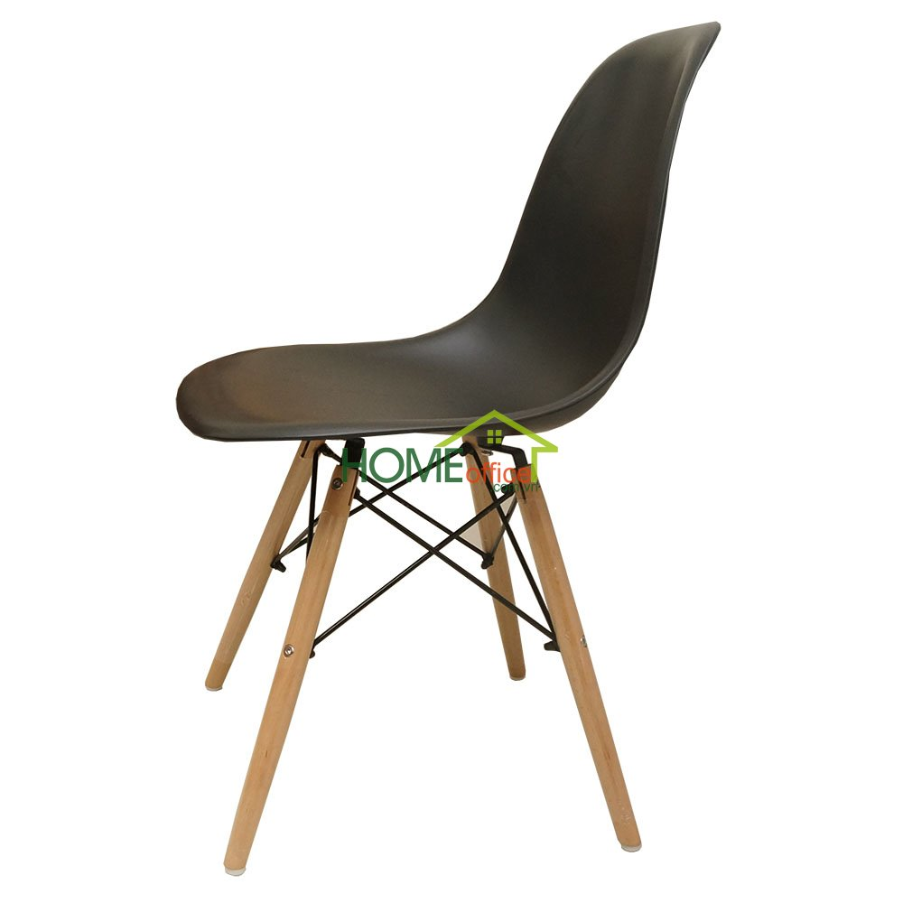 Ghế Eames lưng nhựa màu đen