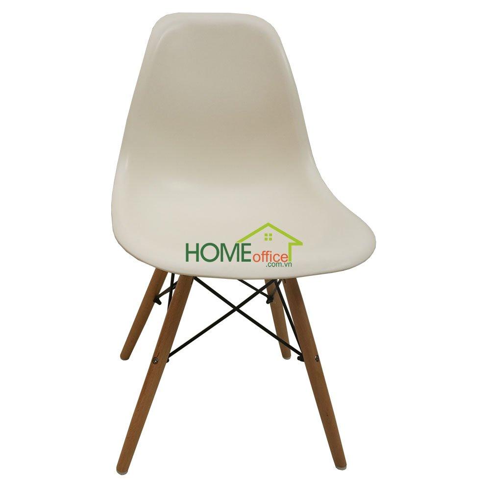Ghế Eames lưng nhựa màu trắng