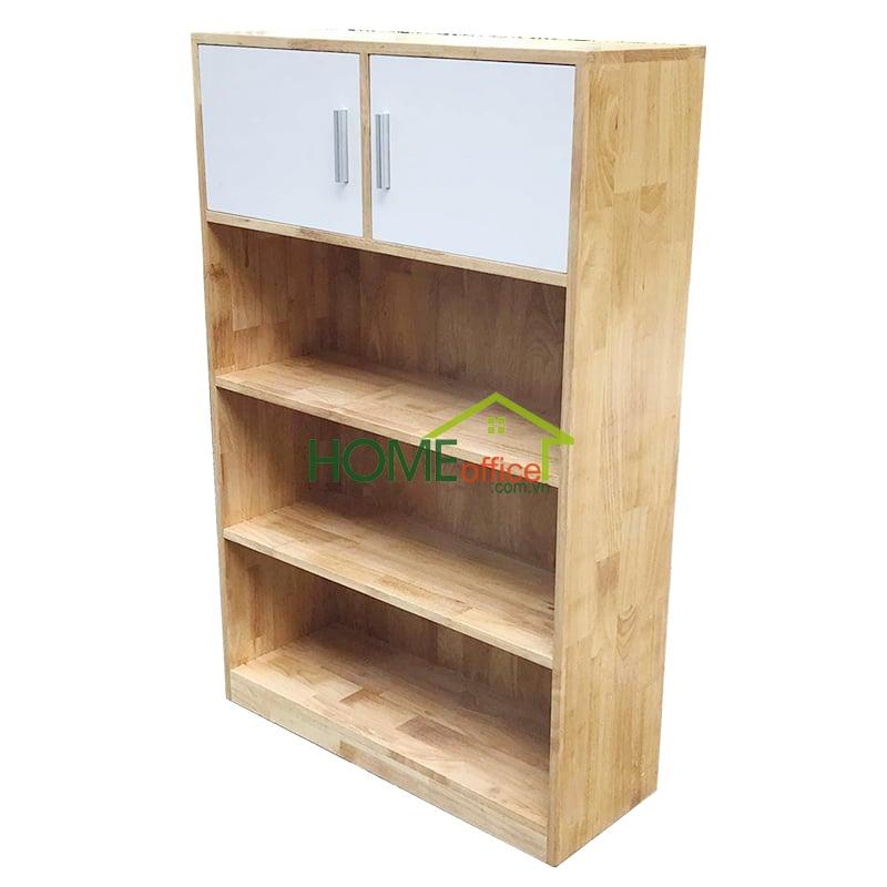 Kệ sách có tủ gỗ cao su