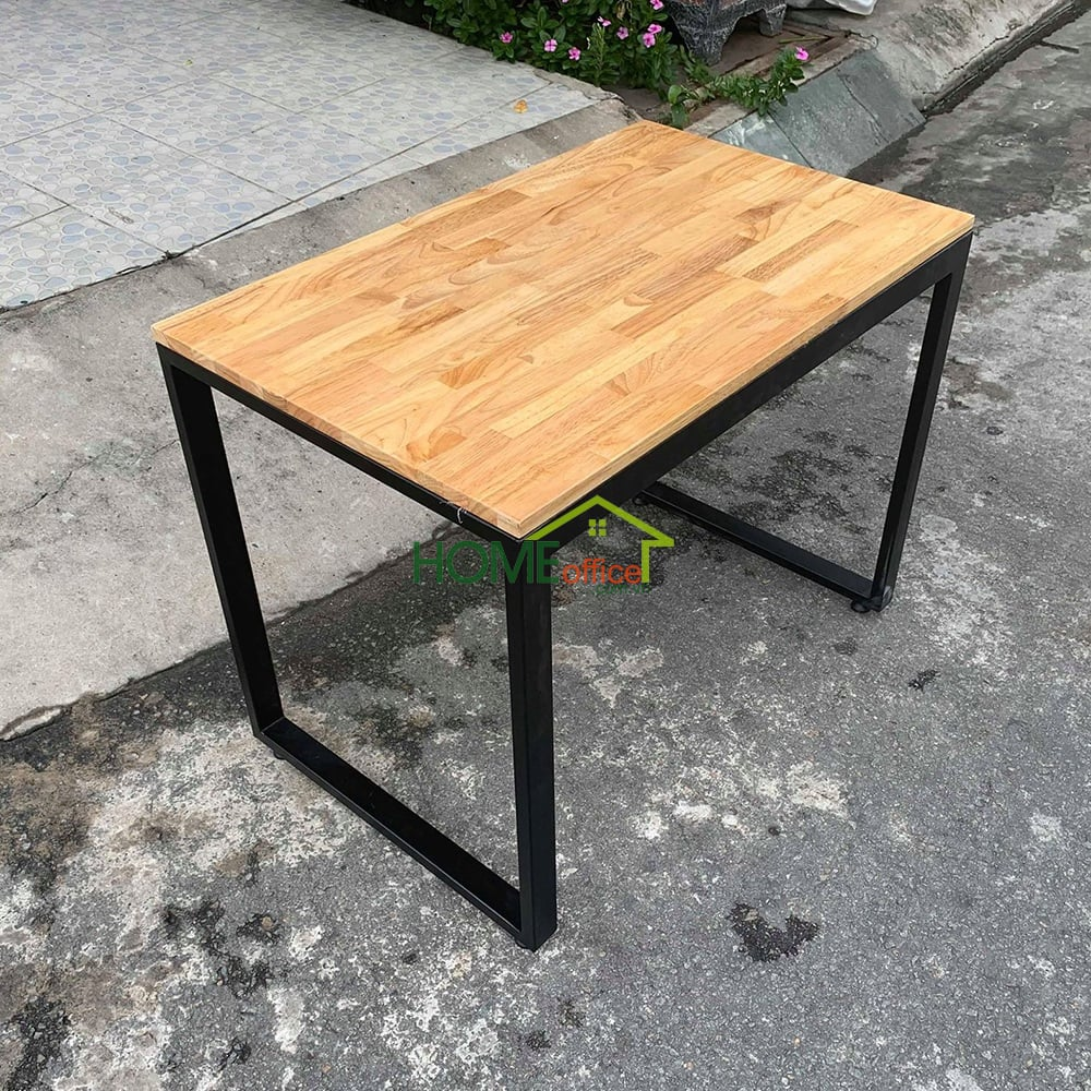 bàn học trẻ em mặt gỗ chân sắt