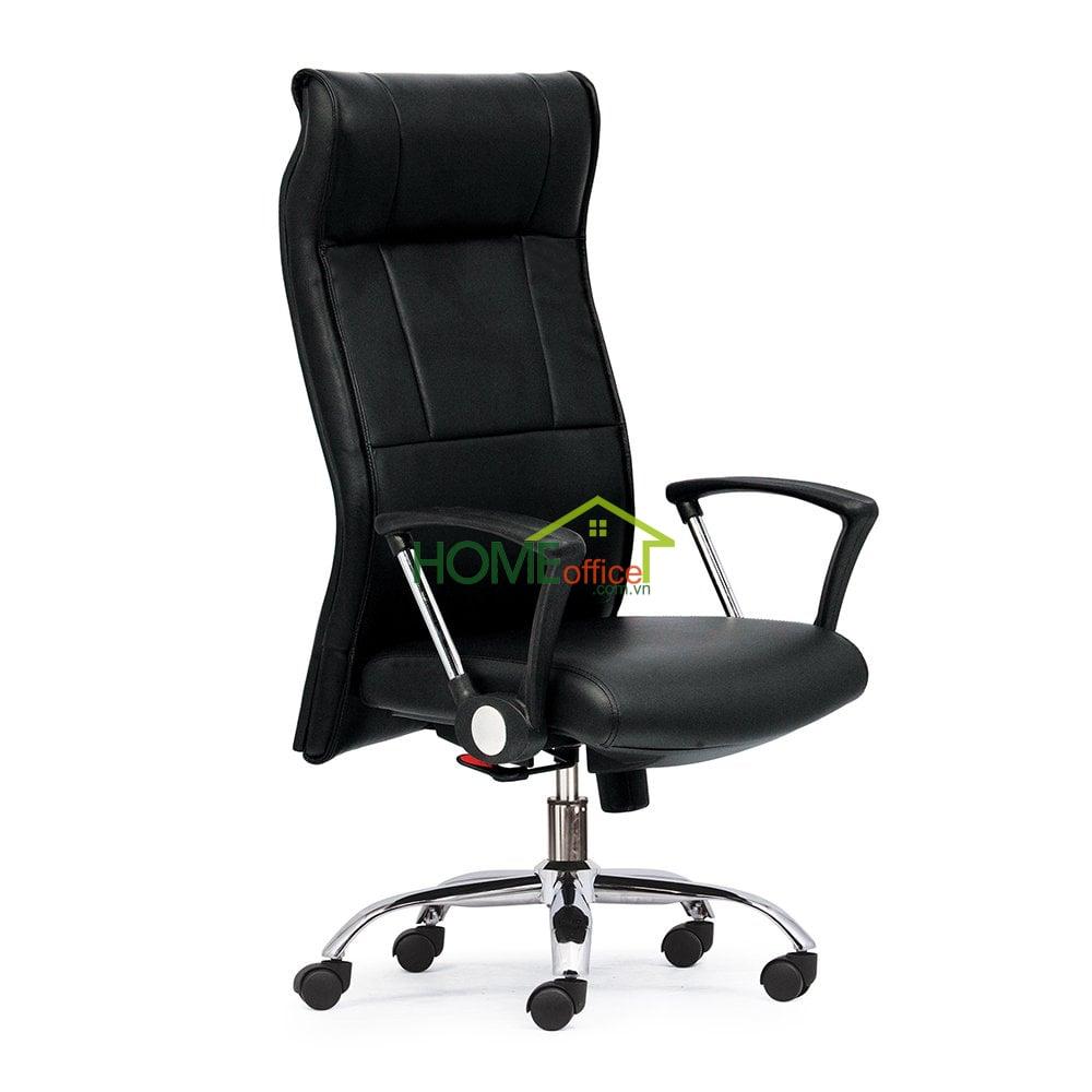 Ghế xoay văn phòng lưng cao màu đen