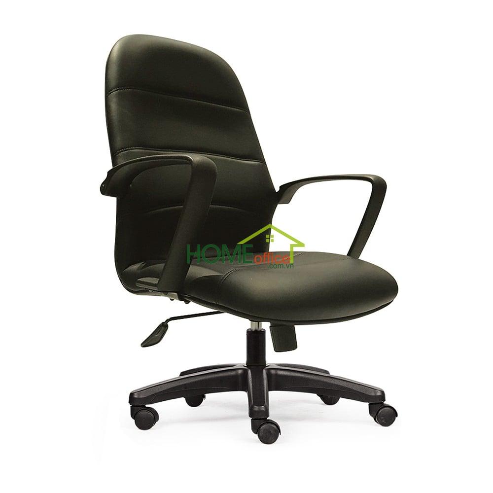 Ghế xoay văn phòng lưng nệm cao chân nhựa