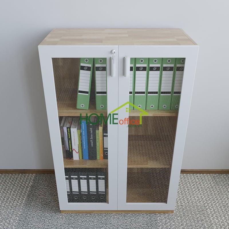Hệ tủ hồ sơ văn phòng cao 120cm 3 tầng kệ