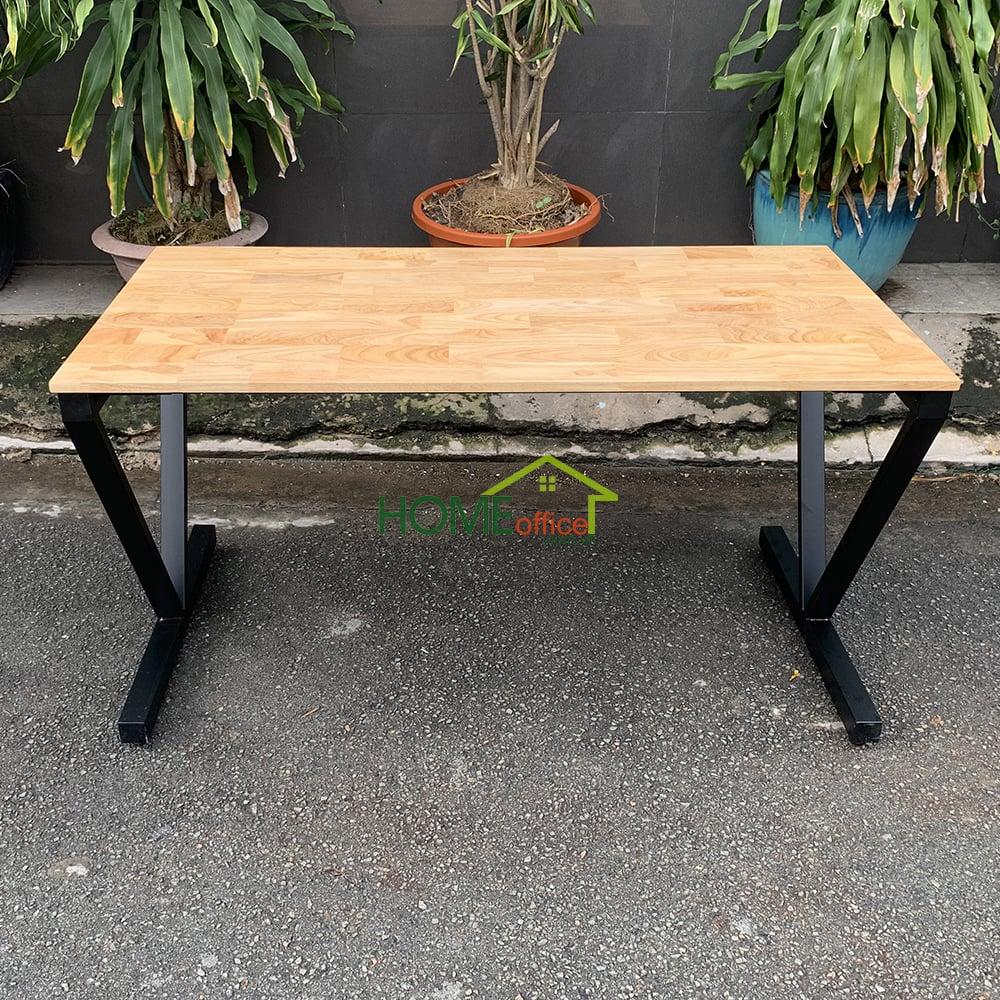 Bàn chân sắt lắp ráp mặt gỗ cao su tiêu chuẩn AA