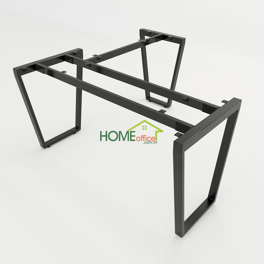 Bàn chữ L 140x140 Trapeze Concept lắp ráp