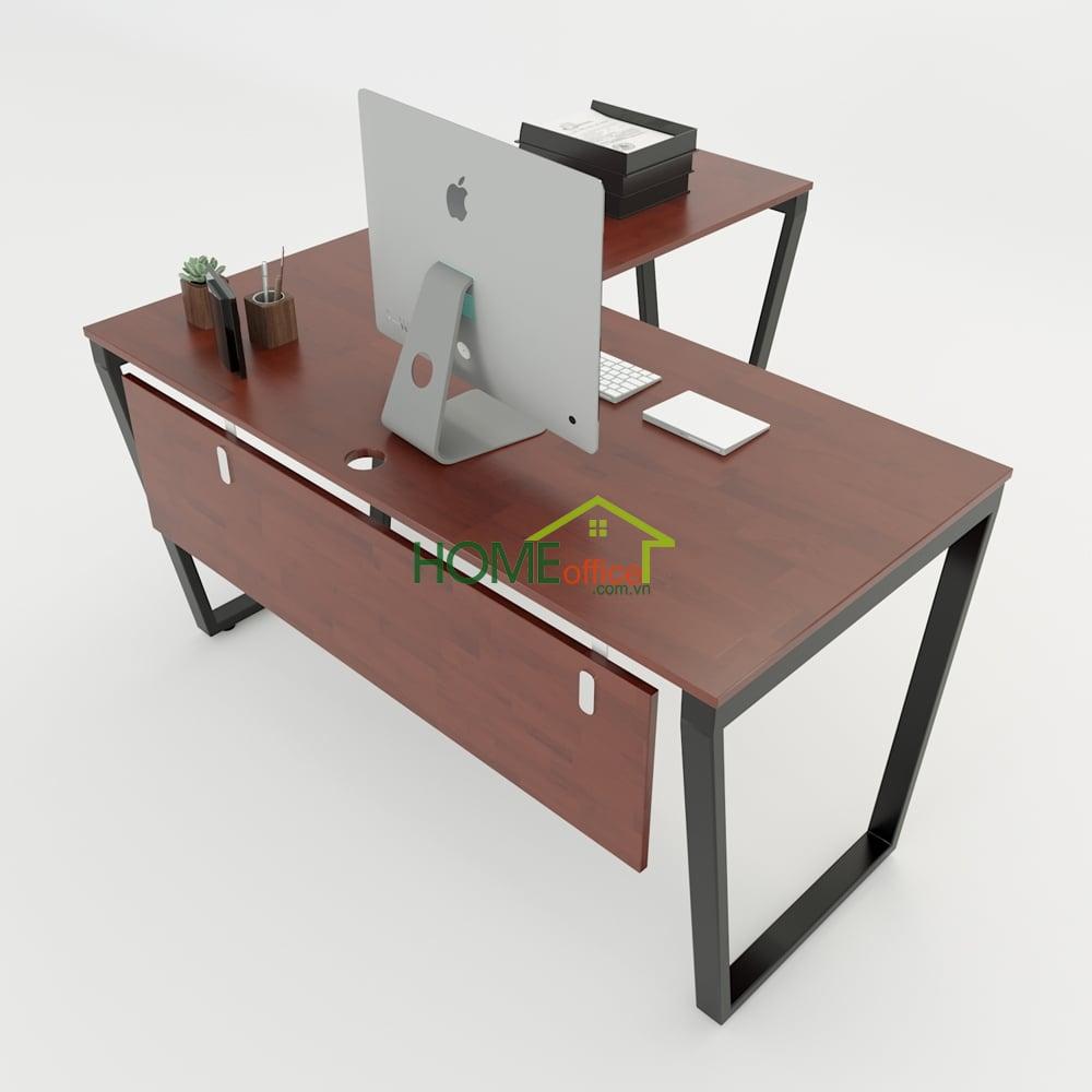Bàn chữ L 150x140 Trapeze Concept lắp ráp