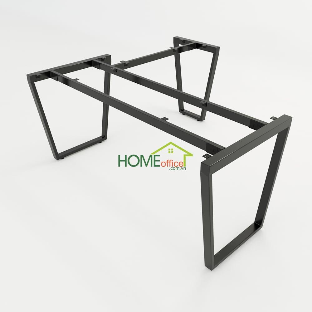 Bàn chữ L 160x150 Trapeze Concept lắp ráp