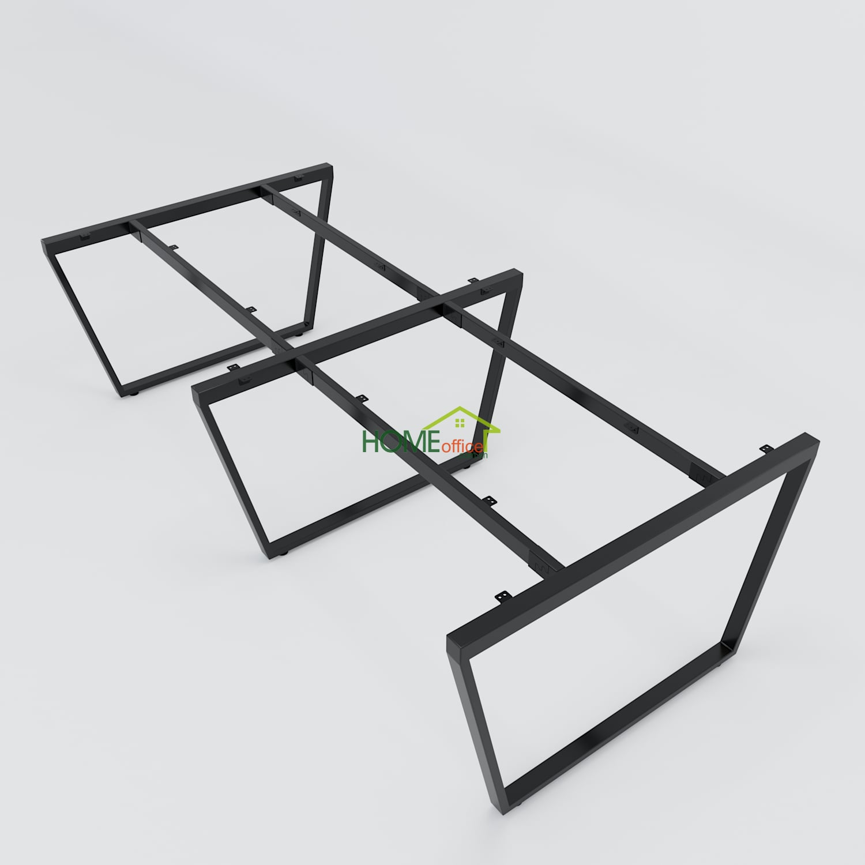 Bàn cụm 4 240x120 Trapeze Concept lắp ráp