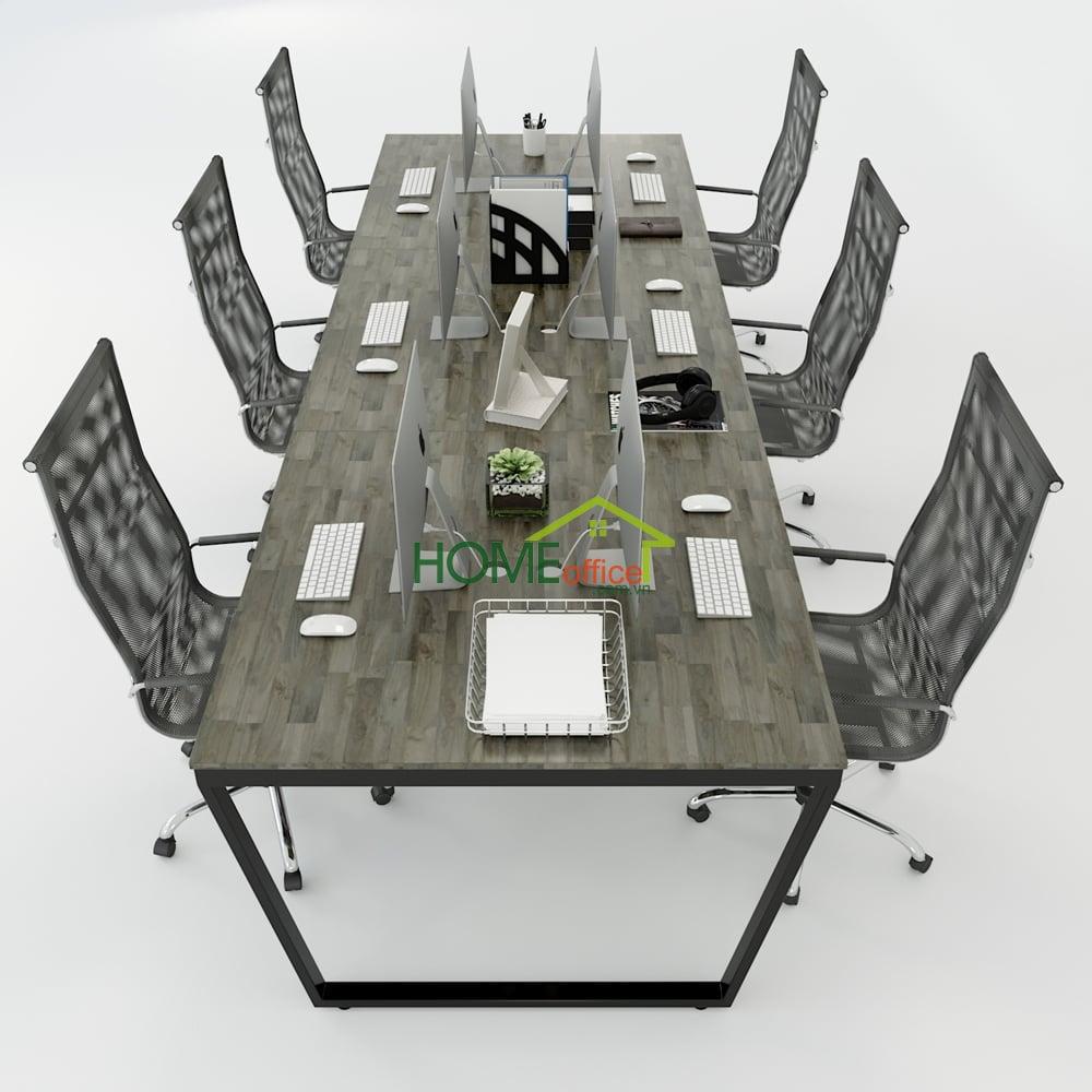 Bàn cụm 6 360x120 Trapeze Concept lắp ráp