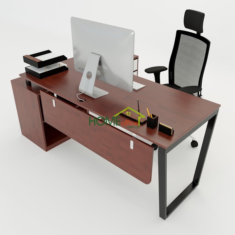 Bàn giám đốc 160x140 (mặt bàn 70)Trapeze Concept lắp ráp