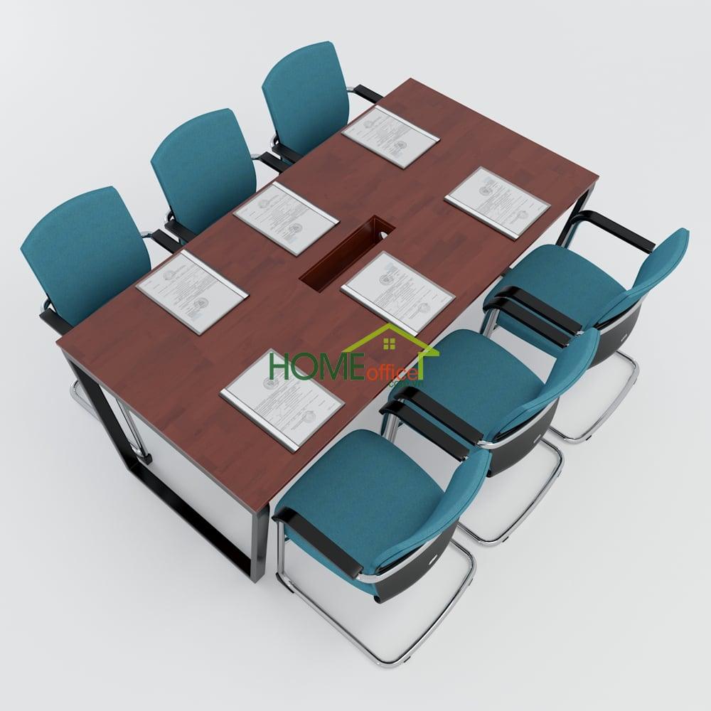 Bàn họp 180x90 Trapeze Concept lắp ráp